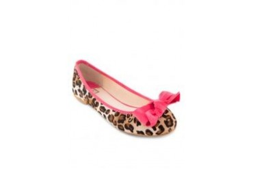 Te Chi-Chi Leopard Printed with Bow Flats