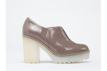 To Be Announced Sharp in Taupe Patent size 8.0