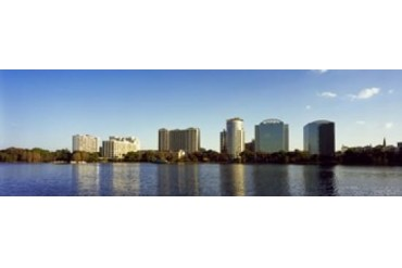Buildings at the waterfront, Lake Eola, Orlando, Orange County,