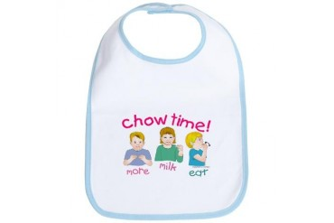 Chow Time Baby Baby Bib by CafePress