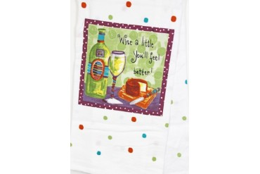 Wine A Little You ll Feel Better Vino Tea Towel