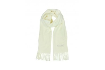 Moschino Crystals Signature Wool Fringed Scarf