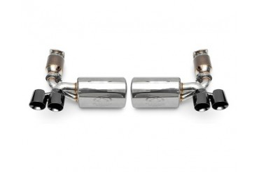 Fabspeed Maxflo Performance Exhaust System with Mild Cats Black Tips Porsche 997 Turbo Cabrio Tiptronic 07-09