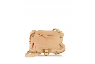 Twee Mini Nude Leather Shoulder Bag