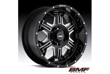 BMF Wheels S.E.R.E, 20x9 with 6 on 5.5 Bolt Pattern - Death Metal Black and Machined 463B-090613900 BMF Wheels