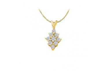 shion Pendant in 14K Yellow Gold 0.50 CT TGWPerfect Jewelry Gift for Women