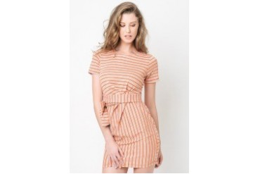 Coney Twist Belted Dress