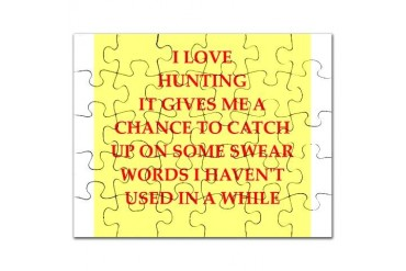 hunting Funny Puzzle by CafePress