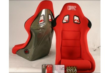 ChargeSpeed Racing Seat Shark Type Kevlar Red Japanese Kevlar