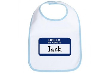 Hello: Jack Name Bib by CafePress