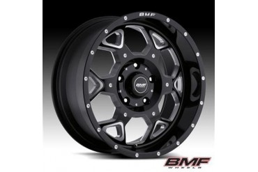 BMF Wheels S.O.T.A., 20x9 with 5 on 5.5 Bolt Pattern - Death Metal Black and Machined 460B-090513900 BMF Wheels