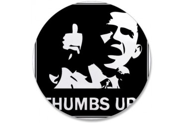 Obama thumbs up Obama 3.5 Button by CafePress