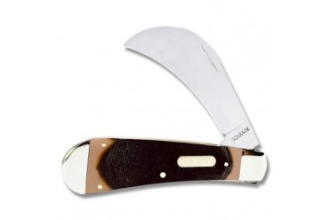 Schrade Old Timer Hawkbill with Brown Sawcut OT Compostion Handle