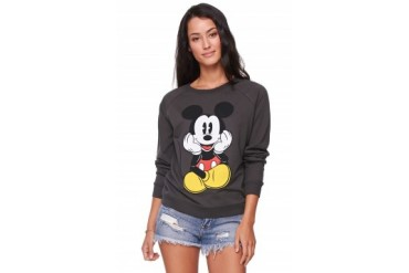 Womens Doe Sweatshirts & Hoodies - Doe Mickey Pie Eye Crew Fleece
