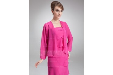 Long Sleeve Chiffon Special Occasion Wrap (013016937)