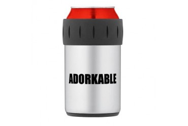Adorkable Thermos Can Cooler Internet Thermosreg; Can Cooler by CafePress