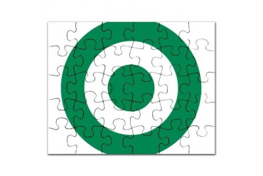 Nigerian AF roundel Air force Puzzle by CafePress