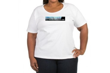 Fooddollar.info Logo Women's Plus Size Scoop Neck Food Women's Plus Size Scoop Neck T-Shirt by CafePress