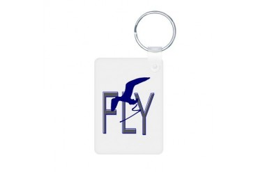 FLY Vintage Aluminum Photo Keychain by CafePress