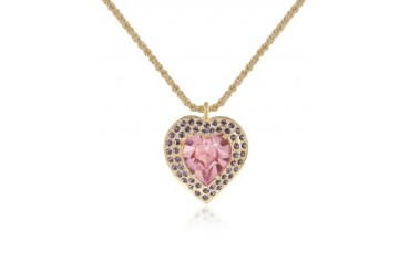 Gold-plated Heart Pendant Necklace