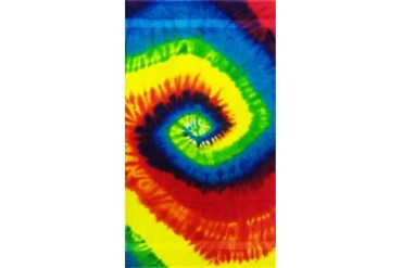 Rainbow Tie Dye Premium Plush Beach & Bath Towel