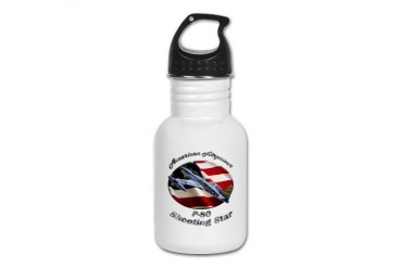 P-80 Shooting Star Hobbies Kid's Water Bottle by CafePress