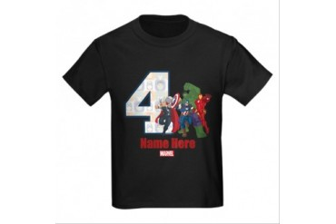 CafePress PERSONALIZED AVENGERS 4TH BIRTHDAY T-SHIRT
