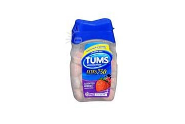 Tums Extra Strength Antacid Calcium Supplement Assorted Berries 48 tabs
