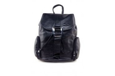 Santa Barbara Polo & Racquet Club Buckle Leather Backpack