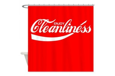 Enjoy Cleanliness Funny Shower Curtain by CafePress