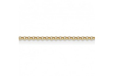 1.55mm 14K Yellow Gold Solid Rolo Pendant Chain