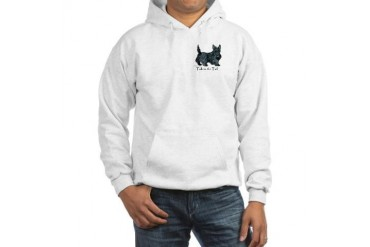 Scottish Terrier Attitude Pets Hooded Sweatshirt by CafePress