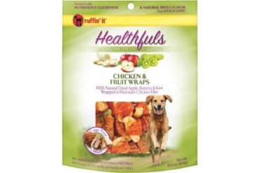 Westminster Pet 08300 Ruffin It Chicken And Fruit Wraps Dog Treat