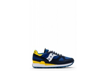 White Mountaineering Blue And Yellow Nylon paneled Sneakers