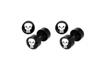 Marvel Comics Punisher Acrylic Faux Plug Earrings