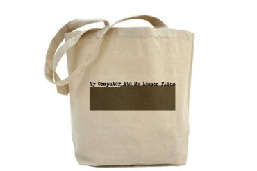 My Computer Ate My Lesson Pla Funny Tote Bag by CafePress