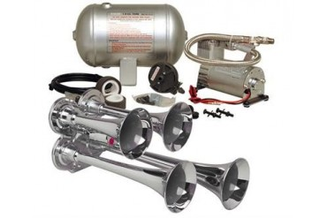 Kleinn Train Horns Complete quad air horn package with 130 psi sealed air system  HK4 Kleinn Complete Kits