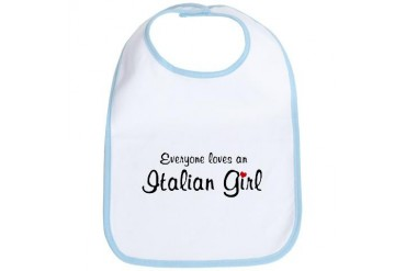 Everyone Loves Italian Girl Retro Bib by CafePress
