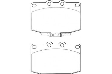 1996-2002 Mercury Grand Marquis Brake Pad Set Bosch Mercury Brake Pad Set BP674 96 97 98 99 00 01 02