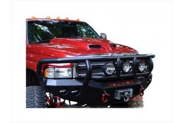 Road Armor Front Stealth Winch Bumper with Titan II Guard in Satin Black 47012B Front Bumpers
