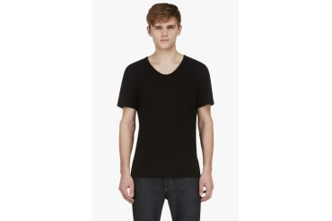 T By Alexander Wang Black Classic Scoopneck T shirt
