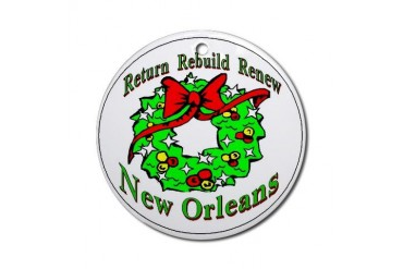 Rebuild New Orleans Ornament Round Holiday Round Ornament by CafePress