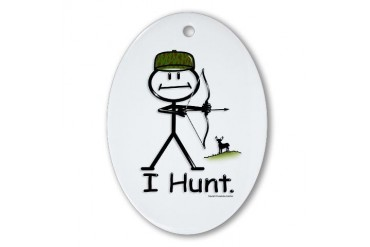 Bow Hunter Oval Ornament