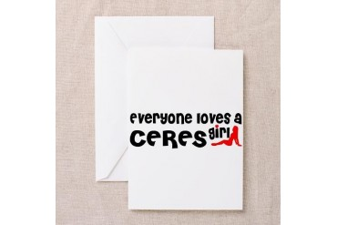 Everyone loves a Ceres Girl California Greeting Card by CafePress