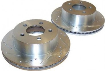 Crown Automotive Drilled and Slotted Rotor Set 5016434DS Disc Brake Rotors