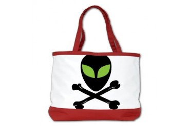 Alien Skull and Crossbones Cool Shoulder Bag by CafePress
