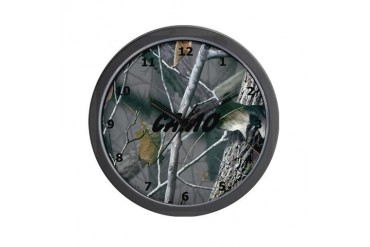 Camo Military Wall Clock by CafePress