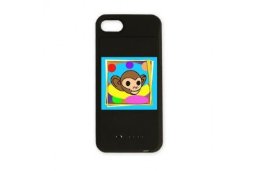 monkey funky frame4.png Humor iPhone Charger Case by CafePress