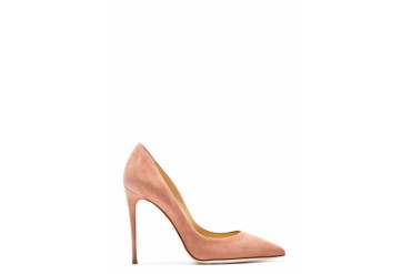 Dolce And Gabbana Rose Suede Pointed Pumps
