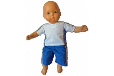 Athletic Shorts And Top For 15-16 Inch Baby Dolls